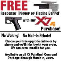Tippmann X7 Paintball Gun with Free Response Kit or Flatline Barrel