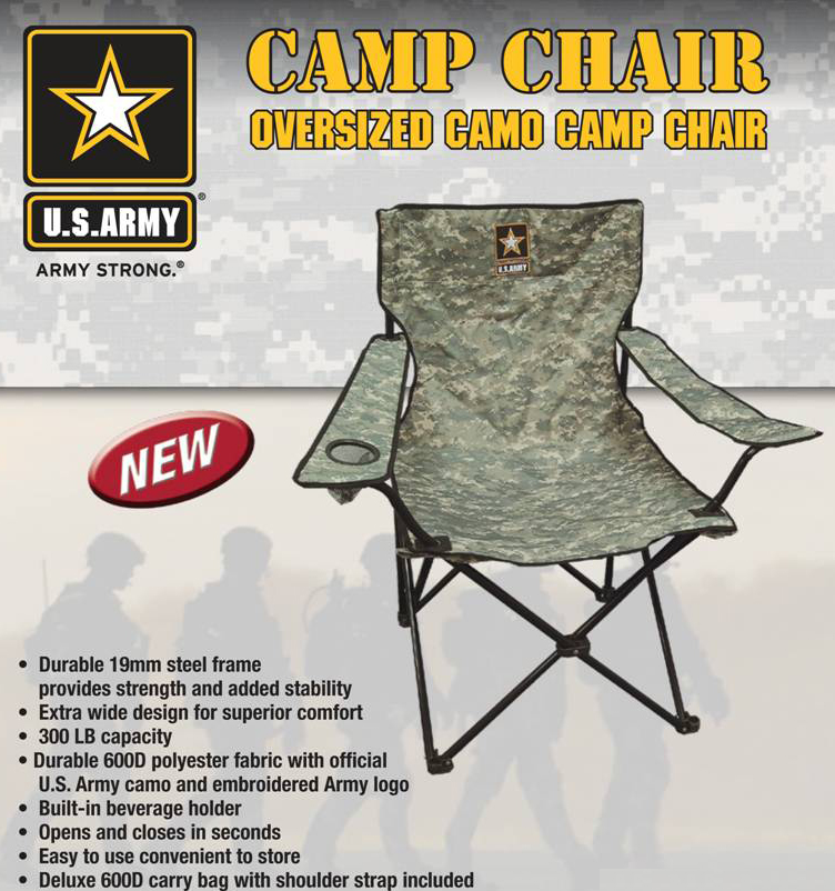 US Army Camp Chair - Digital Camouflage - by Tippmann